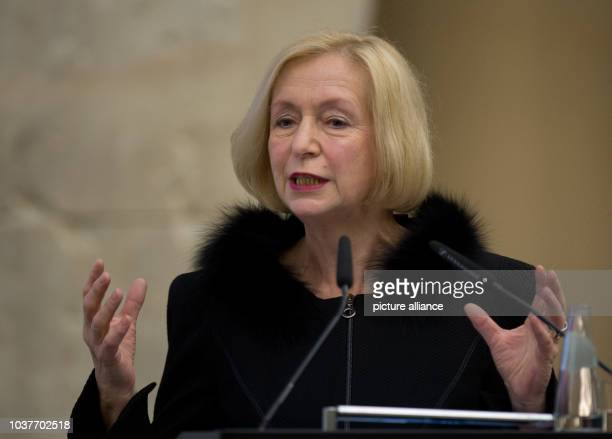 German Research Minister Johanna Wanka talks during the Gottfried-Wilhelm-Leibniz Ceremony in Berlin,Germany, 19March 2013. The prize is awarded to...