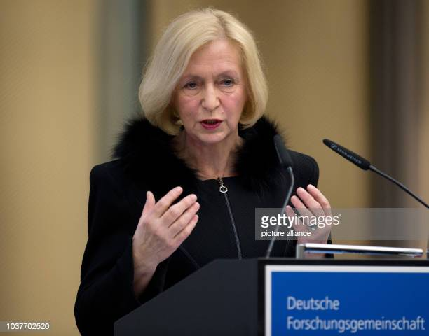 German Research Minister Johanna Wanka talks during the Gottfried-Wilhelm-Leibniz Ceremony in Berlin, Germany, 19 March 2013. The prize is awarded to...