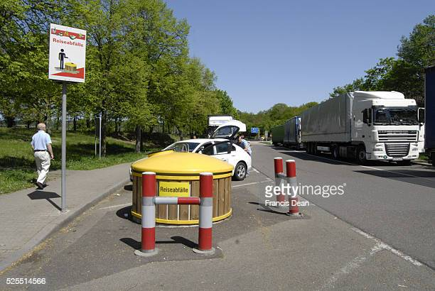 German rest area treash containers on highs 1 May 2012