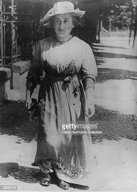 German revolutionary Rosa Luxemburg who exercised considerable influence on Marxist political strategy and thinking.