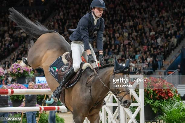 German rider Patrick Stuhlmeyer on Varihoka du Temple competes in the FEI World Cup Jumping event during the Gothenburg Horse Show at Scandinavium...