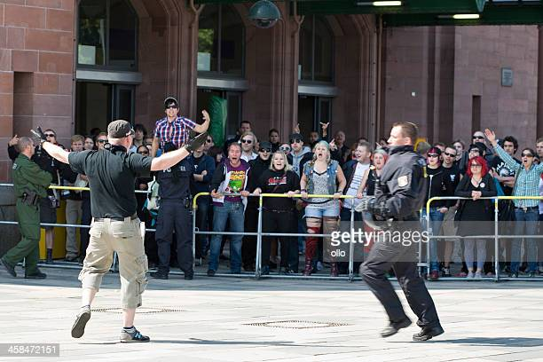 german riot police and protestors - fascism stock pictures, royalty-free photos & images