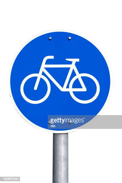 German road sign - bicycle lane, Fahrradweg