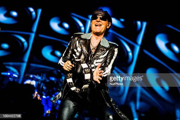 German rock band formed in 1965 Scorpions performs live at Arena di Verona Italy on July 23 2018