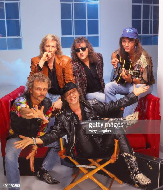 German rock band The Scorpions poses for a portrait in 1992 in Los Angeles California