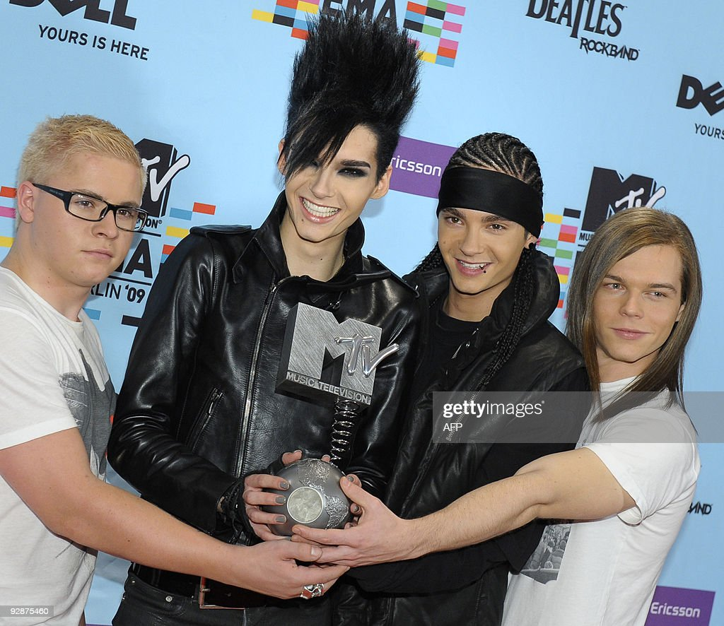 German rock band Tokio Hotel poses after receiving the MTV