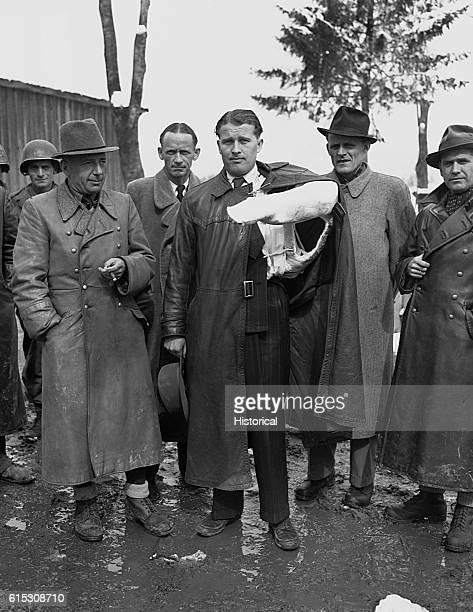 German rocket scientist Werner von Braun and other members of the German V2 rocket development team after their surrender to US forces Their...