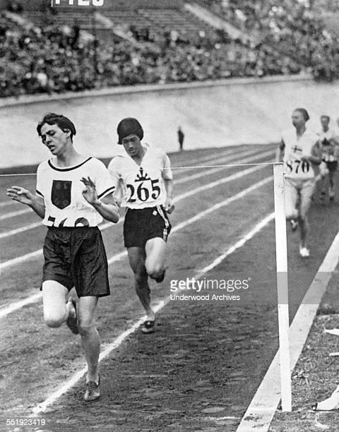 German runner Lina Radke wins the women's 800 meter race in the 1928 Summer Olympics Amsterdam Netherlands 1928