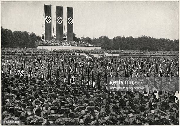 German SA Troops at Rally Nuremberg Germany 1933