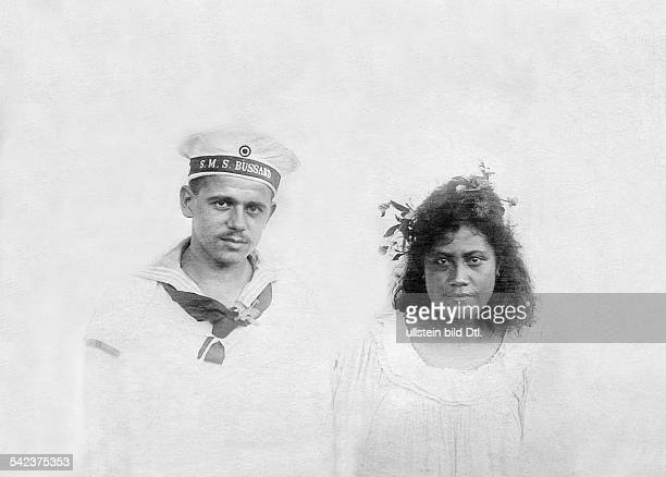 German Samoa German protectorate from 1900 to 1914 German sailor with Samoan woman date unknown around 1900