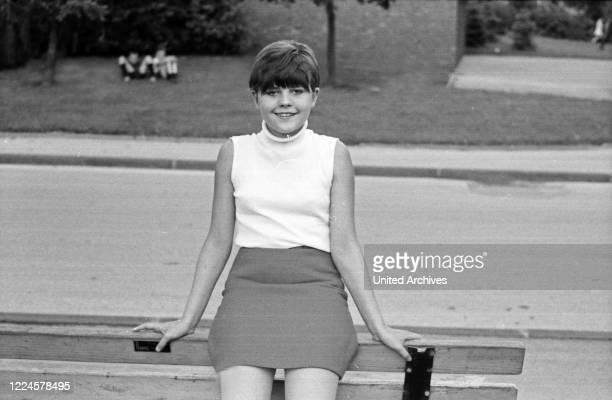 German schlager singer Gaby Baginsky, Germany, 1960s.