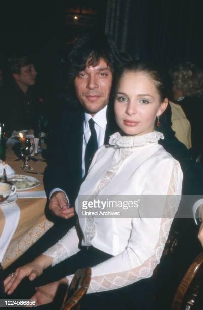 German schlager singer Juergen Drews with girlfriend Corinna Grillwald, Germany, 1980s.