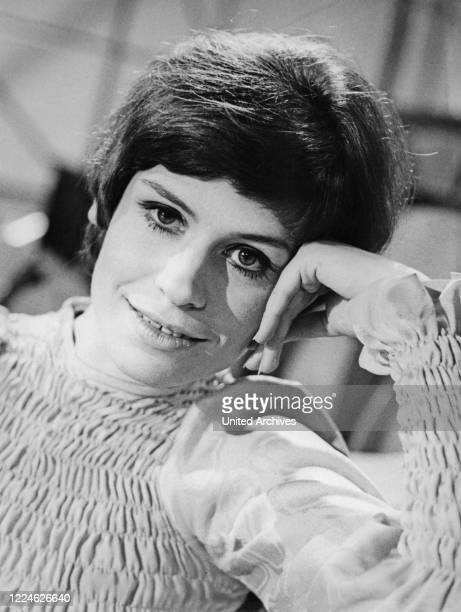 """German schlager singer Mary Roos after performing at the chartshow """"Hitparade"""" on July 12th, 1969 in Berlin, Germany,. ."""