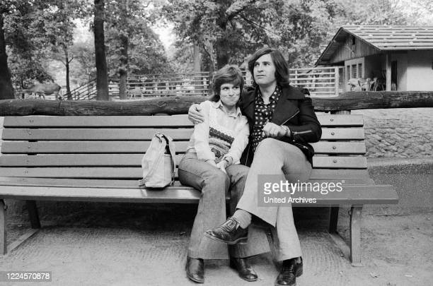 German schlager singer Mary Roos with husband Pierre Scardin Germany circa 1974