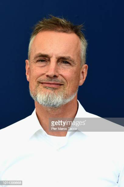German scientist and philosopher Jurgen Schmidhuber poses for a portrait session during the 71st Locarno Film Festival on August 10 2018 in Locarno...
