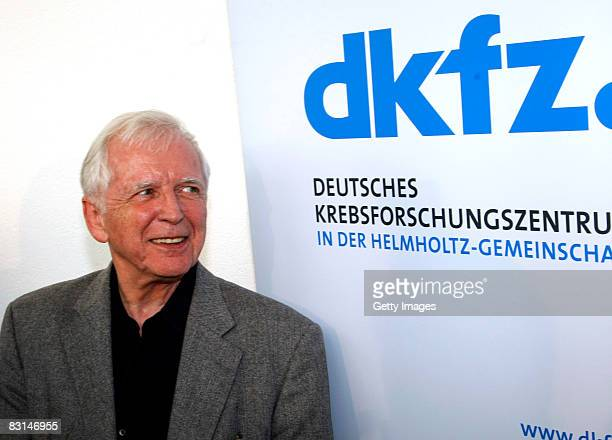 German scientist Harald zur Hausen poses for the press at the German Cancer Research Center on October 6 2008 in Heidelberg Germany Zur Hausen who...