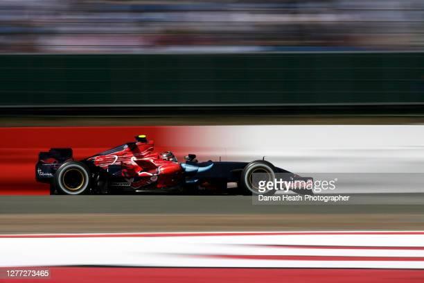 German Scuderia Toro Rosso Formula One driver Sebastian Vettel driving his STR2 car during practice for the 2007 British Grand Prix held at the...