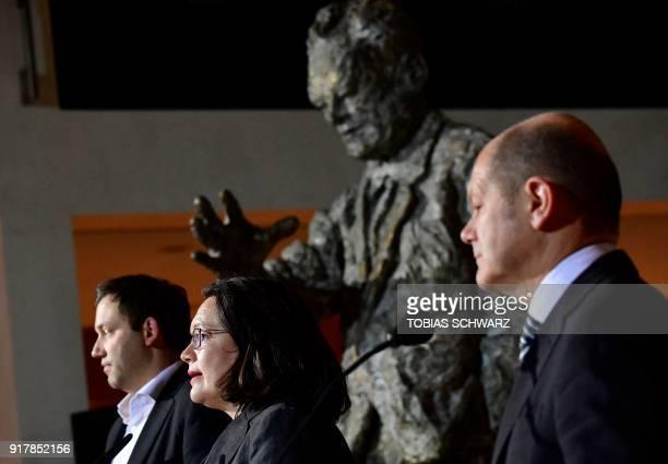 German secretaryGeneral of the Social Democratic Party Lars Klingbeil Parliamentary group leader of the Social Democratic Party Andrea Nahles and...
