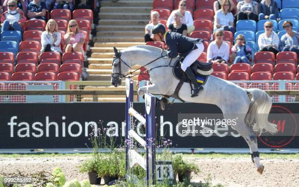 German show jumper Rene Tebbel riding for Ukraine on his horse Cosun at the Longines FEI European Championships 2017 in Gothenburg, Sweden, 23 August...