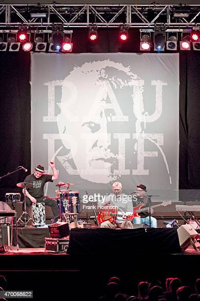 German singer Achim Reichel performs live during a concert at the Huxleys on April 15 2015 in Berlin Germany
