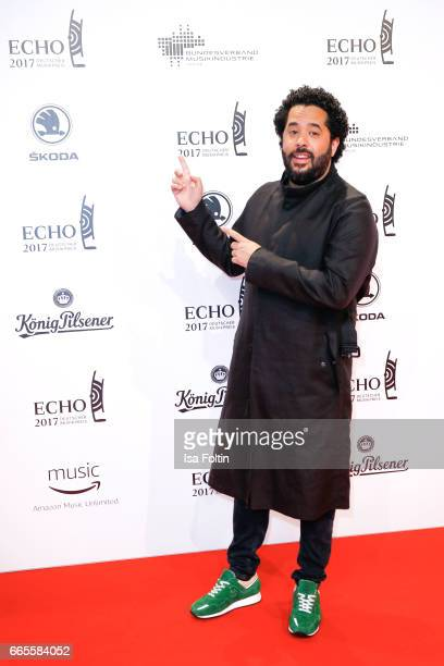 German singer Adel Tawil during the Echo award red carpet on April 6 2017 in Berlin Germany