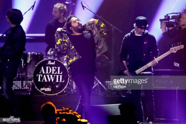 German singer Adel Tawil performs during the Echo award show on April 6 2017 in Berlin Germany
