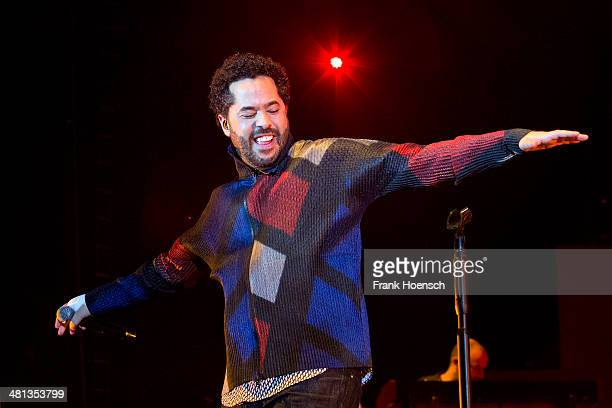 German singer Adel Tawil performs live during a concert at the O2 World on March 29 2014 in Berlin Germany