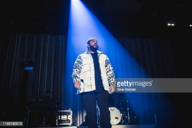 German singer Adel Tawil performs live on stage during a concert at Columbiahalle on January 11 2020 in Berlin Germany
