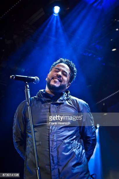 German singer Adel Tawil performs live on stage during a concert at the Columbiahalle on November 11 2017 in Berlin Germany