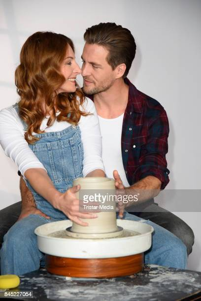 German singer Alexander Klaws and Dutch singer Willemijn Verkaik attend Ghost The Musical Photo Call at Stage Theater on September 10 2017 in Berlin...
