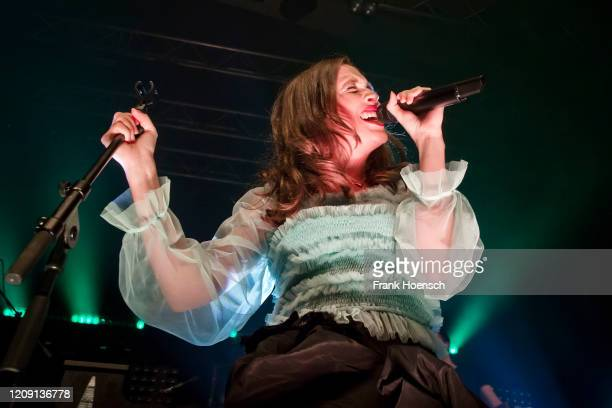 German singer Alice Merton performs live on stage during a concert at the Kesselhaus on February 27 2020 in Berlin Germany