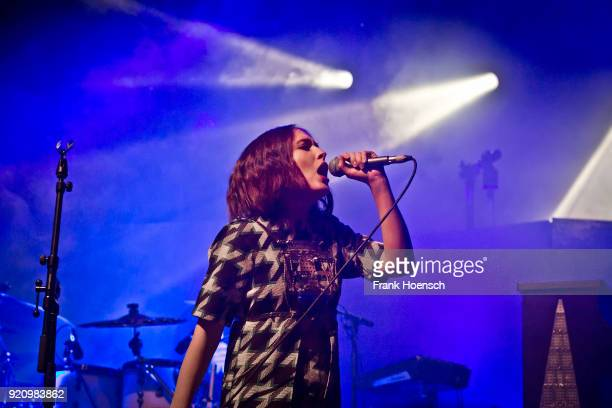 German singer Alice Merton performs live on stage during a concert at the Columbia Theater on February 19 2018 in Berlin Germany