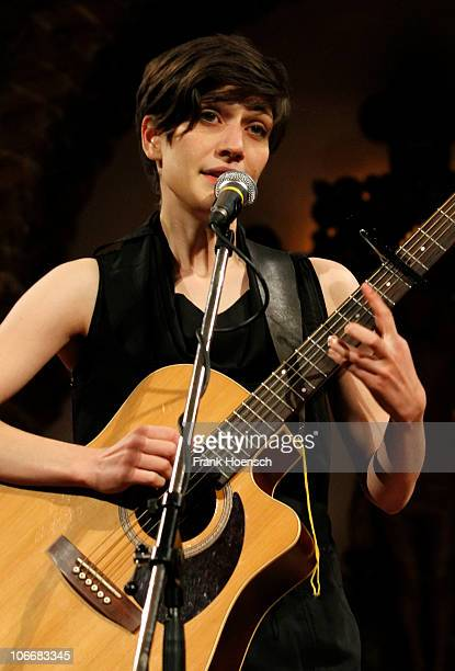 German singer Alin Coen performs live in support of Suzanne Vega at the Passionskirche on November 10 2010 in Berlin Germany