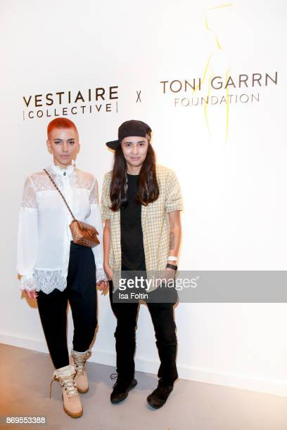 German singer Alina Sueggeler alias Frida Gold and German politician and author Diana Kinnert at the Vestiaire Collective and Toni Garrn Charity Sale...