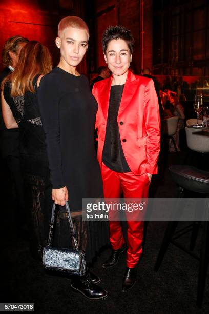 German singer Alina Sueggeler and German presenter Dunja Hayali attend the aftershow party during during the 24th Opera Gala at Deutsche Oper Berlin...