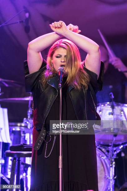 German singer Alina Wichmann aka Alina performs onstage at the Gloria Theatre on April 24 2018 in Cologne Germany