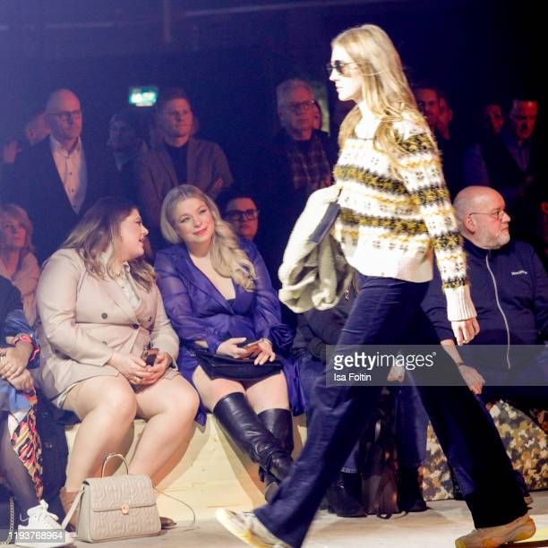 German singer Alina Wichmann alias Alina and German presenter/modelCaterina Pogorzelski at the camel active show during Berlin Fashion Week...