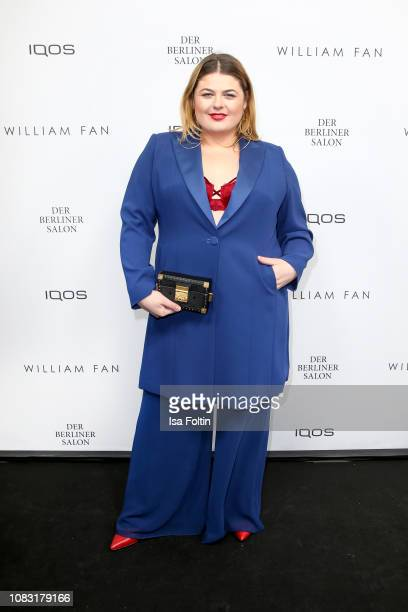 German singer Alina Wichmann alias Alina arrives at the William Fan Defile during 'Der Berliner Salon' Autumn/Winter 2019 at Knutschfleck on January...