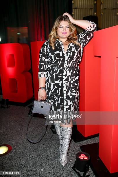 German singer Alina Wichmann alias Alina attends the Bunte New Faces Night at Father Graham on July 1, 2019 in Berlin, Germany.
