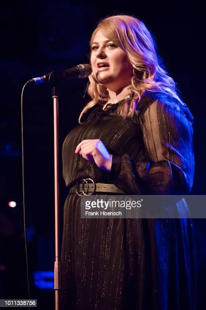 German singer Alina Wichmann performs live on stage during a concert at the Heimathafen Neukoelln on April 27 2018 in Berlin Germany