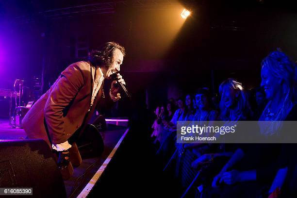 German singer and actor Hardy Schwetter aka Christian Steiffen performs live during a concert at the Postbahnhof on October 21 2016 in Berlin Germany