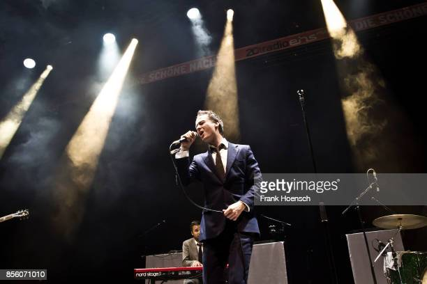 German singer and actor Tom Schilling performs live on stage during 'Die schoene Nacht' at the Tempodrom on September 30 2017 in Berlin Germany