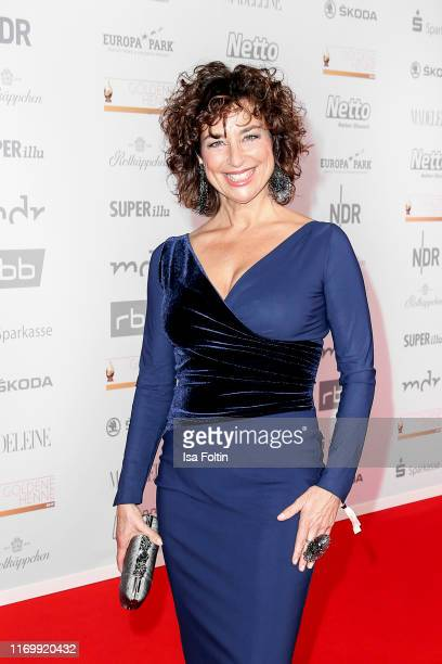 German singer and actress Isabel Varell attends the Goldene Henne at Messe Leipzig on September 20 2019 in Leipzig Germany