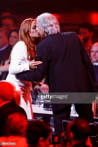 German singer and award winner Andrea Berg and her husband Ulrich Ferber during the Echo award show on April 6, 2017 in Berlin, Germany.