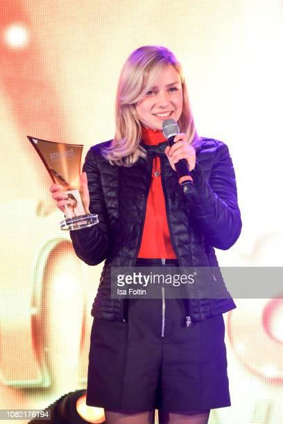 German singer and award winner Marie Wegener during the Smago Award 2018 on January 13 2019 in Berlin Germany