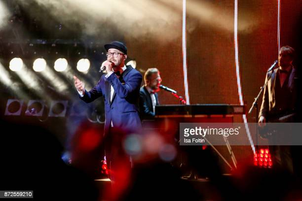 German singer and award winner Mark Forster performs live on stage at the GQ Men of the year Award 2017 show at Komische Oper on November 9 2017 in...