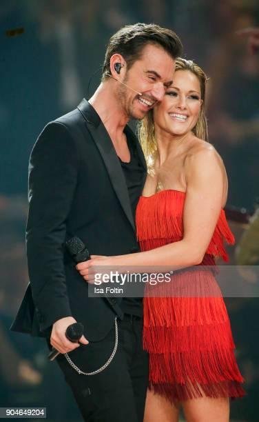 German singer and presenter Florian Silbereisen and his girlfriend German singer Helene Fischer during the 'Schlagerchampions Das grosse Fest der...