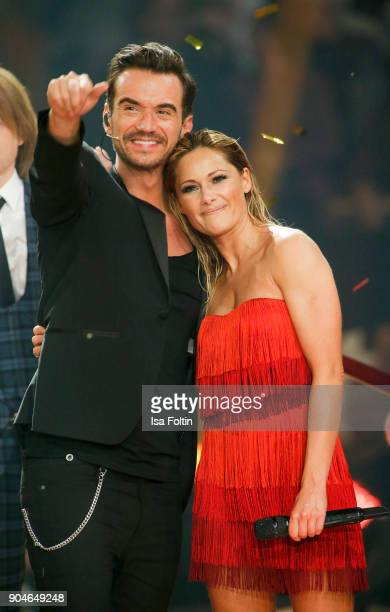 German singer and presenter Florian Silbereisen and his girlfriend German singer Helene Fischer during the 'Schlagerchampions Das grosse Fest der...