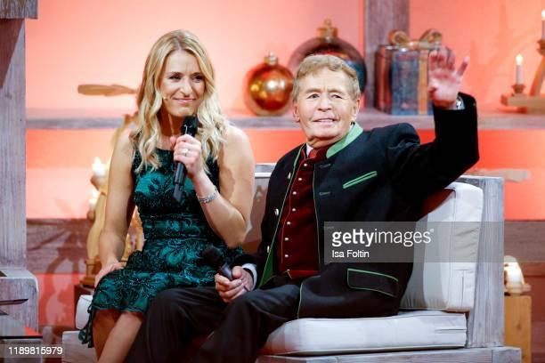 German singer and presenter Stefanie Hertel and her father Eberhard Hertel at Die groe Show der Weihnachtslieder at on November 22 2019 in Suhl...