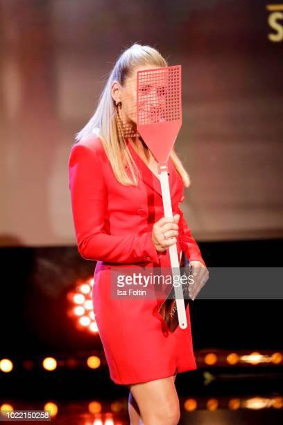 German singer and presenter Stefanie Hertel during the tv show 'Stefanie Hertel Meine Stars' on August 23 2018 in Zwickau Germany